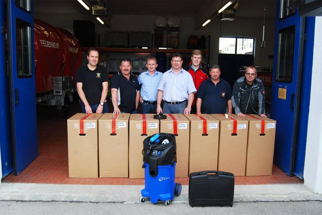 Feuerwehr Bad Abbach Taifun Wassersauger